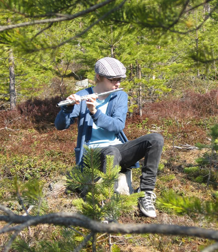 Flute in the woods